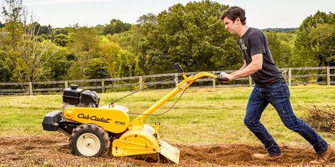 Grass, Soil, Jeans, Denim, Mower, Machine, Sunglasses, Lawn, Field, Auto part,