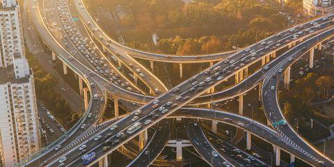 Junction, Highway, Freeway, Intersection, Road, Metropolitan area, Overpass, Infrastructure, Bridge, Thoroughfare,