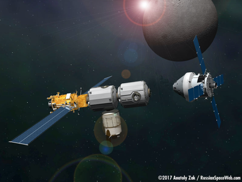 A First Look at NASA's Future Space Station Around the Moon