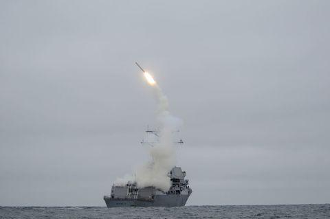 Vehicle, Missile, Boat, Watercraft, Navy, Destroyer, Ship, Rocket, Cruise missile submarine, Frigate,
