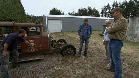 american pickers - Frank Fritz, Mike Wolfe, Linda Leek, Zane Leek