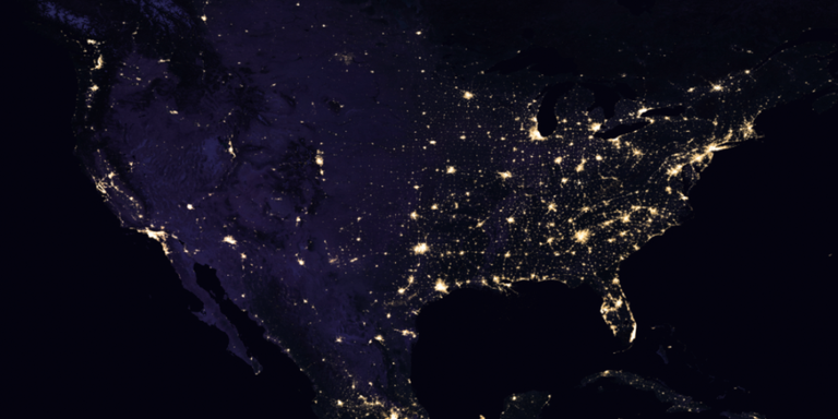 NASA Reveals Picture Of Earth At Night - Us map night