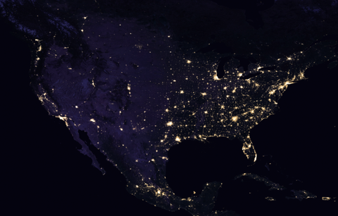 Nasa reveals picture of earth at night united states at night gumiabroncs