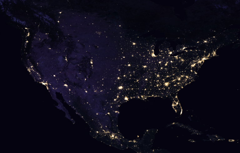 Nasa reveals picture of earth at night united states at night gumiabroncs Choice Image