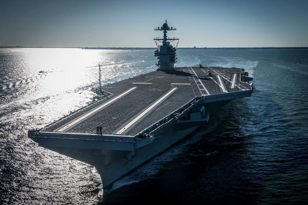 First of Its Class, America's Newest Aircraft Carrier Is Underway at Sea
