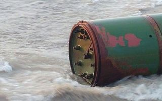 A Russian Torpedo Washed Up on a Lithuanian Beach