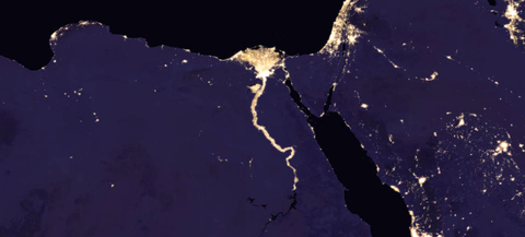 Nasa reveals picture of earth at night composite image of nile river and surrounding region at night 2016 gumiabroncs Image collections