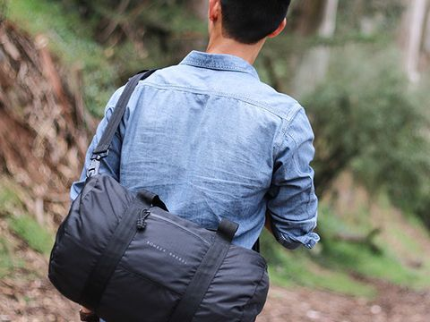 Sleeve, Shirt, Textile, Bag, Cap, Collar, Dress shirt, Back, Street fashion, Luggage and bags,