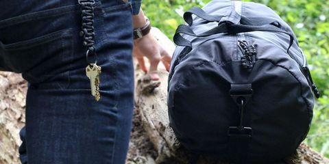 Denim, Textile, Bag, Jacket, Pocket, Street fashion, Backpack, Belt, Waist, Button,