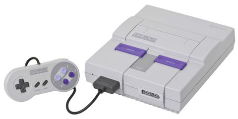 Super nintendo entertainment system, Electronic device, Technology, Home game console accessory, Gadget, Video game console, Nintendo entertainment system, Turbografx-16, Video game accessory, Inkjet printing,