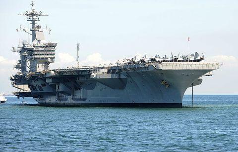 Vehicle, Ship, Naval ship, Warship, Supercarrier, Amphibious assault ship, Navy, Dock landing ship, Boat, Amphibious warfare ship,