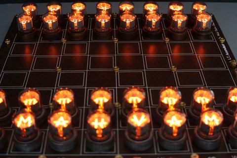 This Nixie Tube Chess Set Is Too Gorgeous