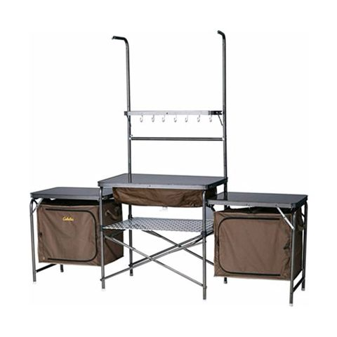 """<p><strong data-redactor-tag=""""strong"""" data-verified=""""redactor""""><i data-redactor-tag=""""i"""">$229 <a href=""""https://www.amazon.com/Outdoor-Portable-Camping-Kitchen-Environment/dp/B00LMIWW1O?tag=bp_links-20"""" data-tracking-id=""""recirc-text-link"""" target=""""_blank"""" class=""""slide-buy--button"""">BUY NOW</a></i></strong><br></p><p>Pull this camping&nbsp;kitchen out of the included carry bag and start cooking&nbsp;in&nbsp;a matter of minutes. The tubular&nbsp;steel frame makes it easy to set up, yet is strong enough to withstand high winds. Remove the center of three tabletops and you'll find a sink with a drain, making cleanup easier than ever, too!</p><p><strong data-redactor-tag=""""strong"""" data-verified=""""redactor"""">More:&nbsp;</strong><a href=""""http://www.bestproducts.com/fitness/equipment/g2562/best-camping-tables-for-outdoors/"""" target=""""_blank"""" data-tracking-id=""""recirc-text-link"""">Best Camping Tables for Comfy Outdoor Dining</a><br></p>"""