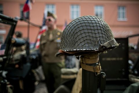 6158ce2f62b How U.S. Military Helmets Went From Stopping Rocks to Stopping Bullets