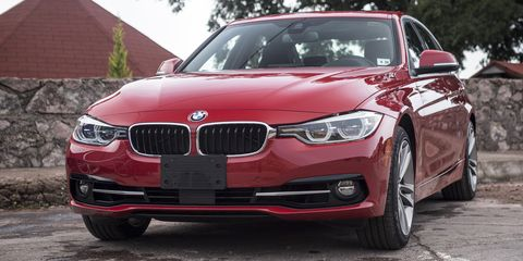 "<p><del data-verified=""redactor"" data-redactor-tag=""del""></del>Amazingly, a rear-wheel drive&nbsp;six-cylinder BMW 3-Series can do 32 mpg on the highway, if you don't bury your foot too often. That's amazing for <a href=""http://www.roadandtrack.com/car-culture/a31788/comparison-2016-bmw-340i-vs-2017-jaguar-xe/"" target=""_blank"" data-tracking-id=""recirc-text-link"">a 320-hp car</a> that's a hoot on a twisty backroad.&nbsp;</p>"