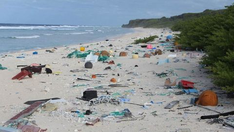 Plastic on Beach