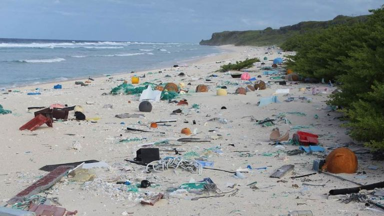 Scientists Find Remote Beach Covered With 19 Tons Of Trash