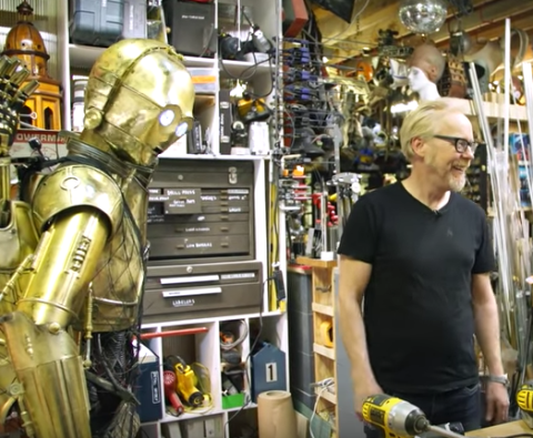 Adam Savage Built a Busted C-3PO for His Chewbacca to Carry Around Cloud City