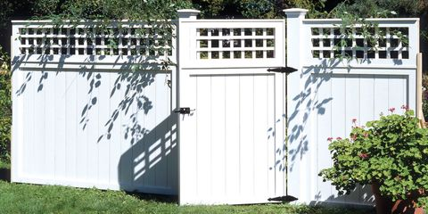 Gate, Fence, Door, Grass, Home fencing, Architecture, Landscaping, Building, Yard, Outdoor structure,