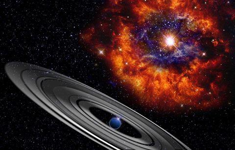 Ringed Planet Around Star