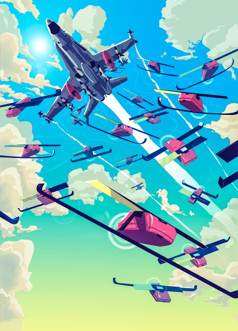 Illustration, Air travel, Graphic design, Line, Airline, Art, Aerospace engineering, Fiction, World, Fictional character,