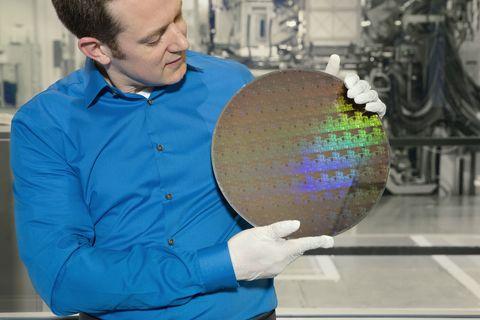 5 nanometer semiconductor wafer