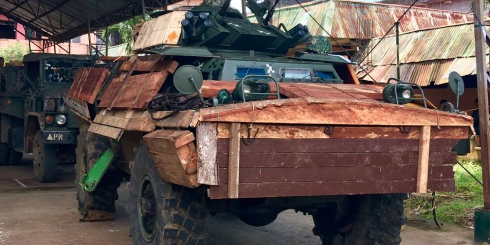 These Isis Fighting Philippine Tanks Are Clad In Diy