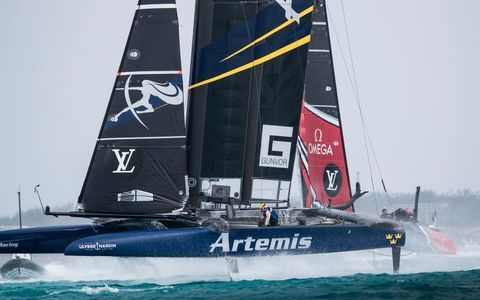Team ARTEMIS competes in the America's Cup