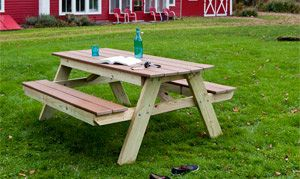 With Long Summer Days On The Horizon, We Show You Plans And Simple  Instructions To Build A Durable, Attractive Picnic Table In Just One  Weekend.