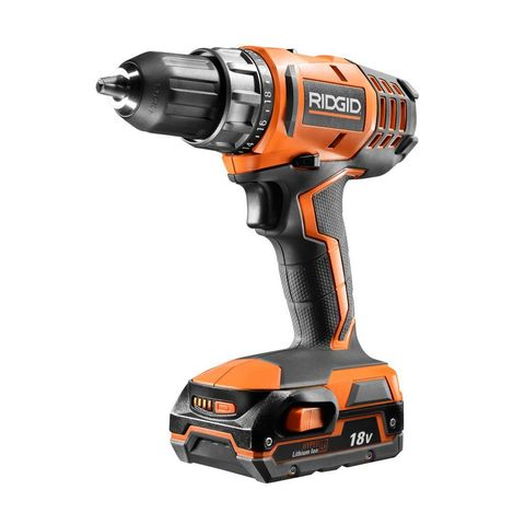 Ridgid 18 Volt Lithium Ion 1 2 In Cordless Compact Drill Driver Kit