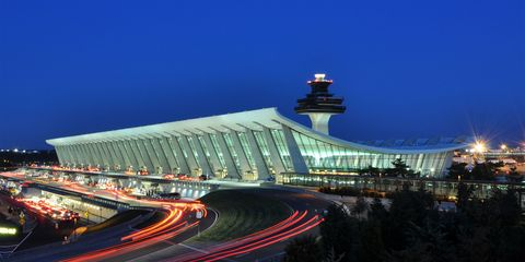 <p> Eero Saarinen first brought visitor's eyes to the sky with his 1947 design for the St. Louis Gateway Arch. That love for the sky sky&nbsp;effort then gave Americans&nbsp;the 1962-opened TWA terminal at JFK airport in New York City. But where Saarinen really came to embrace&nbsp;modern, wing-inspired design the most came in the narrow form of Dulles International Airport in Virginia. After extensive research to study passenger movements, Saarinen&nbsp;detailed a long, narrow terminal, with exterior architecture that serves as a gateway itself, a design long copied at airports the world over. </p>