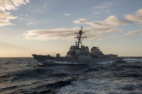 Warship, Naval ship, Vehicle, Destroyer, Heavy cruiser, Guided missile destroyer, Ship, Battleship, Navy, Boat,