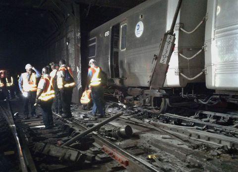 MTA derailment