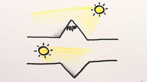 Yellow, Line, Line art, Font, Illustration, Design, Triangle, Graphic design, Art,