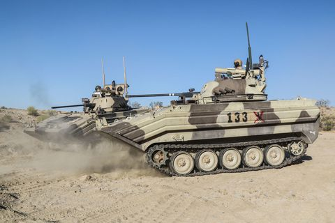 Combat vehicle, Tank, Military vehicle, Vehicle, Self-propelled artillery, Motor vehicle, Armored car, Military, Mode of transport, Armored car,