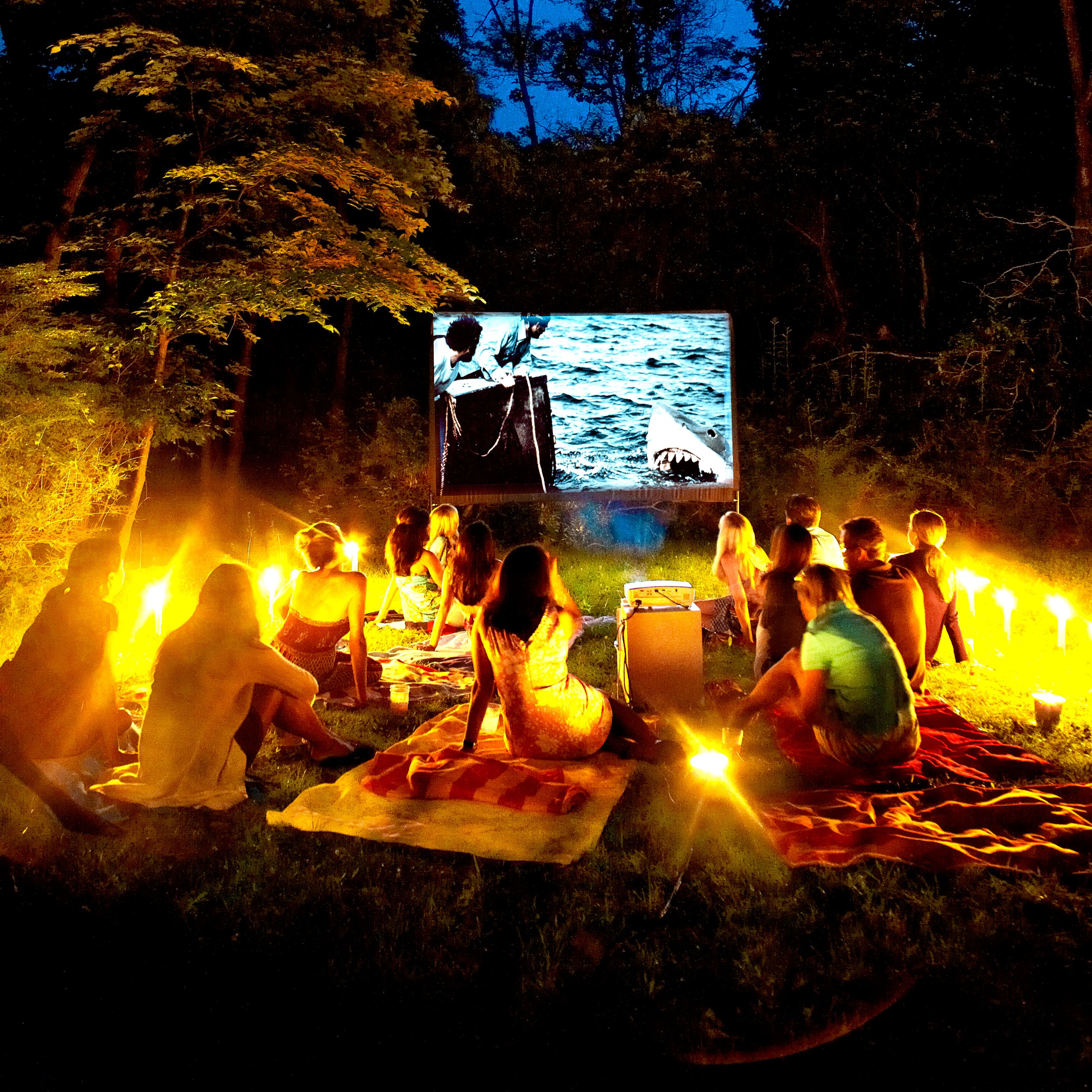 you can make your own backyard movie theater