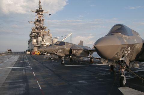 Vehicle, Airplane, Aircraft, Air force, Warship, Naval ship, Military aircraft, Ship, Aircraft carrier, Aviation,