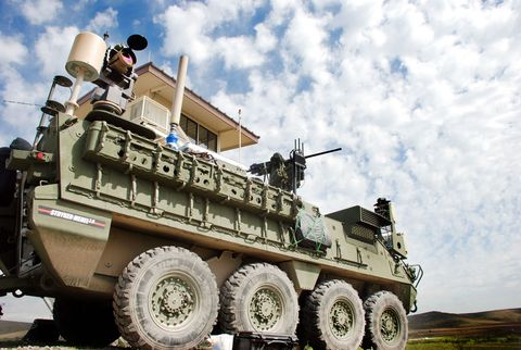 Motor vehicle, Military vehicle, Vehicle, Armored car, Combat vehicle, Mode of transport, Military, Armored car, half track, Self-propelled artillery,