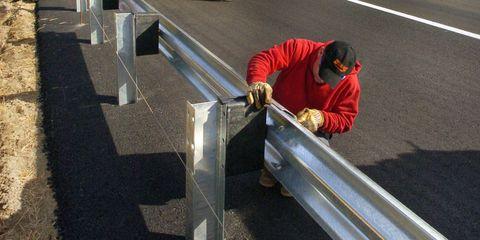 Road surface, Asphalt, Concrete, Curb, High-visibility clothing, Workwear, Tar, Public utility, Machine, Employment,
