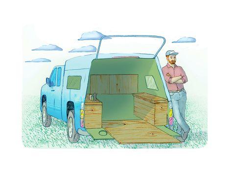 Automotive exterior, Vehicle door, Art, Illustration, Automotive window part, Painting, Van, Drawing, Automotive tail & brake light, Caravan,