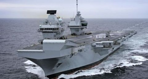 A Civilian Photographer Landed His 350 Drone On The Flight Deck Of HMS Queen Elizabeth United Kingdoms Brand New Aircraft Carrier Without Anyone