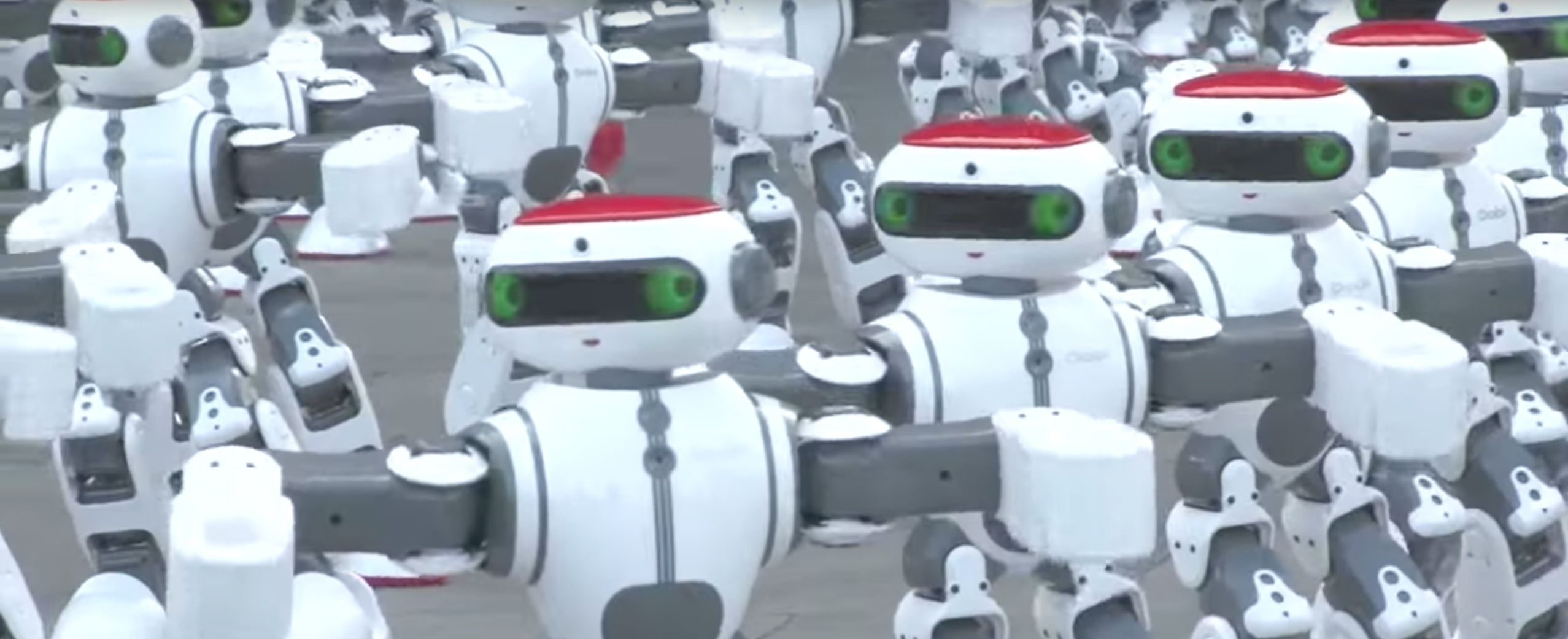 Watch Dancing Robots Break Guinness World Record In China Dancing