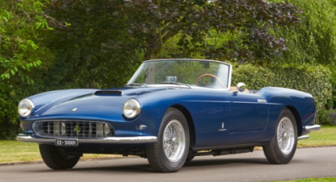 "<p><a href=""http://www.goodingco.com/vehicle/1959-ferrari-250-gt-series-i-cabriolet-2/"" target=""_blank"">This Series I Cabriolet</a> was the last built of just 40 Pininfarina cars, making it arguably the most desirable. Painted in a stunning blue and equipped with the extremely sought-after 250 GT chassis and engine, it's no wonder this car sold for close to $5 million at Gooding &amp; Company's auction. </p>"