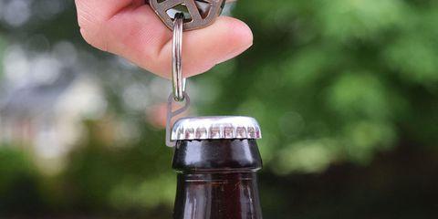Bottle, Product, Water, Barware, Drinkware, Hand, Water bottle, Wine bottle, Beer bottle, Bottle opener,