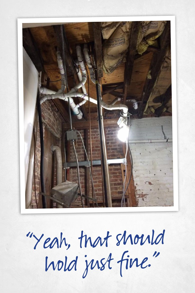 Home inspection fail pictures.