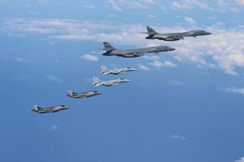 Airplane, Aircraft, Air force, Aviation, Vehicle, Military aircraft, Flight, Fighter aircraft, Air show, Jet aircraft,
