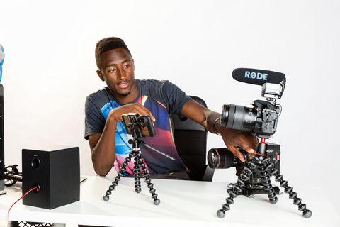 Cameras & optics, Photography, Camera accessory, Videographer, Machine,