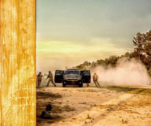 Motor vehicle, Vehicle, Car, Dirt road, Landscape, Dust, Ecoregion, Automotive exterior, Off-roading, Off-road vehicle,