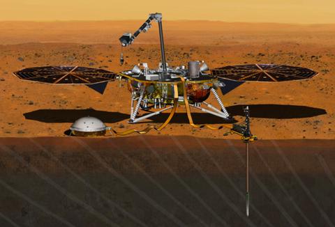 mars insight lander artist conception