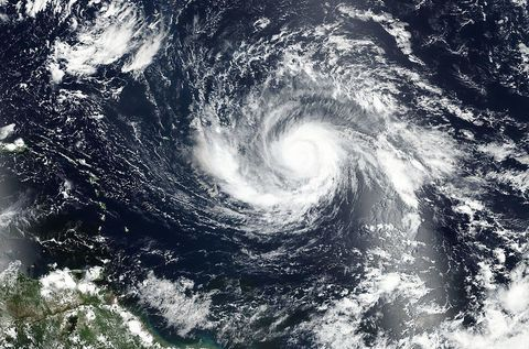 Tropical cyclone, Cyclone, Wave, Sky, Wind wave, Atmospheric phenomenon, Storm, Atmosphere, Water, Space,